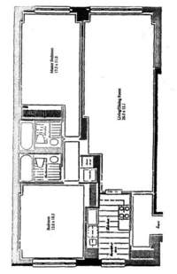floorplan for 30 East 85th Street #5E