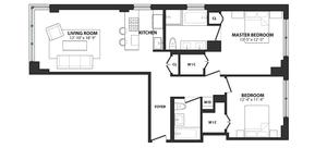 floorplan for 39 East 29th Street #12A