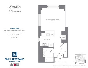 floorplan for 227 West 77th Street #6C