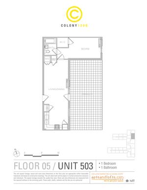 floorplan for 1209 De Kalb Avenue #503