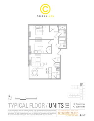 floorplan for 1209 De Kalb Avenue #201