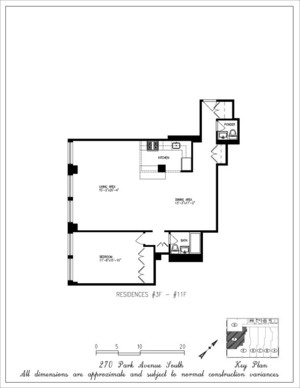floorplan for 270 Park Avenue South #9F